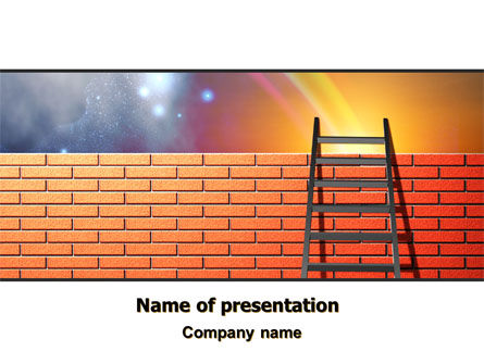 Fence Ladder PowerPoint Template, 07930, Consulting — PoweredTemplate.com