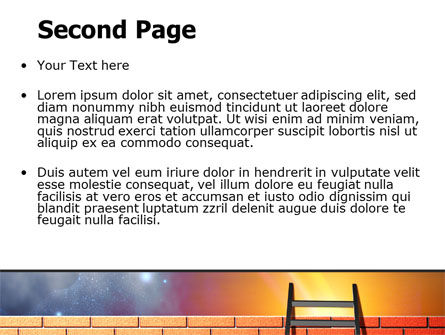 Fence Ladder PowerPoint Template, Slide 2, 07930, Consulting — PoweredTemplate.com