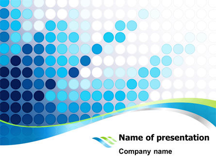 Business: Dotted Blue Theme PowerPoint Template #07931
