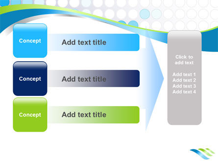 Dotted Blue Theme PowerPoint Template Slide 12