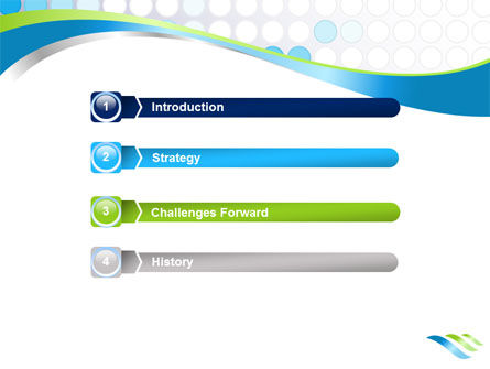 Dotted Blue Theme PowerPoint Template Slide 3