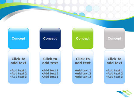 Dotted Blue Theme PowerPoint Template Slide 5