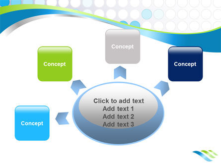 Dotted Blue Theme PowerPoint Template Slide 7