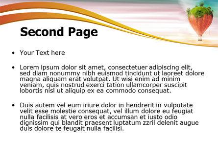 Hot Air Balloon PowerPoint Template, Slide 2, 07933, Nature & Environment — PoweredTemplate.com