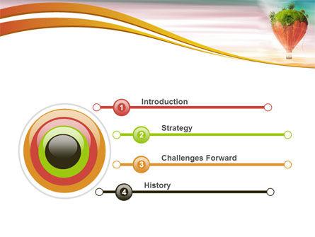 Hot Air Balloon PowerPoint Template, Slide 3, 07933, Nature & Environment — PoweredTemplate.com