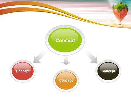 Hot Air Balloon PowerPoint Template, Slide 4, 07933, Nature & Environment — PoweredTemplate.com