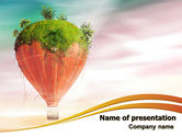 Nature & Environment: Hot Air Balloon PowerPoint Template #07933