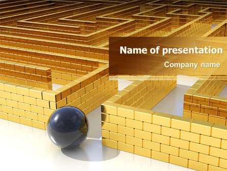 Consulting: Yellow Labyrinth PowerPoint Template #07934