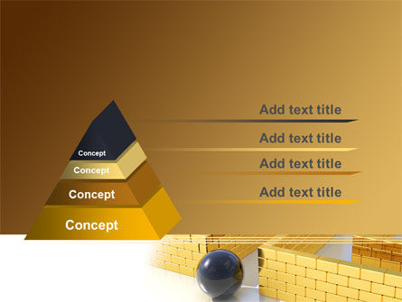 Yellow Labyrinth PowerPoint Template Slide 12