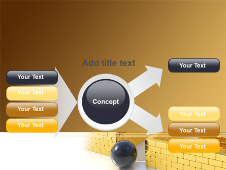 Yellow Labyrinth PowerPoint Template Slide 14