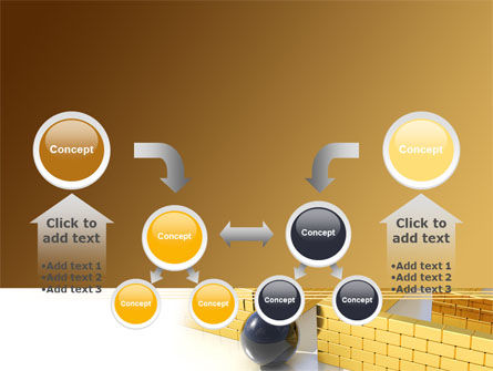 Yellow Labyrinth PowerPoint Template Slide 19