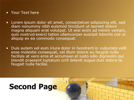 Yellow Labyrinth PowerPoint Template Slide 2