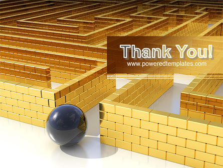 Yellow Labyrinth PowerPoint Template Slide 20