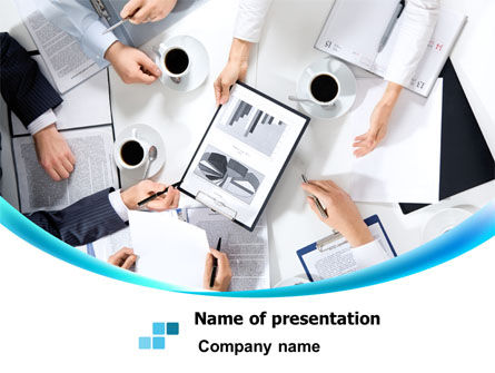 Coffee Break Meeting PowerPoint Template, 07935, Business — PoweredTemplate.com