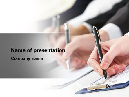 Business: Business Meeting Notes PowerPoint Template #07938