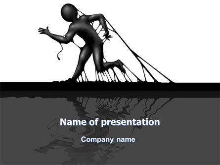 Stuck Man PowerPoint Template