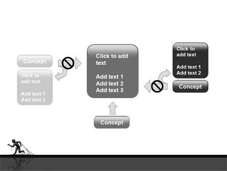 Stuck Man PowerPoint Template Slide 13