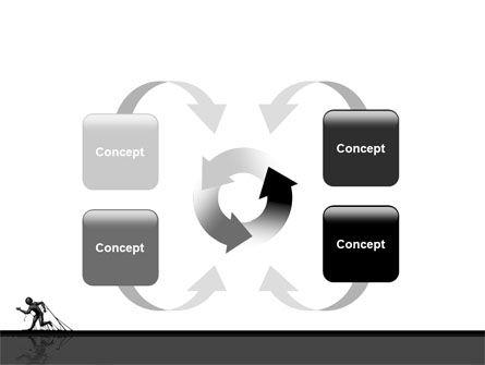 Stuck Man PowerPoint Template Slide 6
