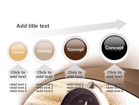 Compass in Sand PowerPoint Template Slide 13