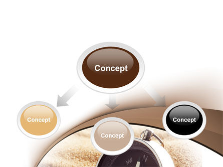 Compass in Sand PowerPoint Template, Slide 4, 07942, Business — PoweredTemplate.com