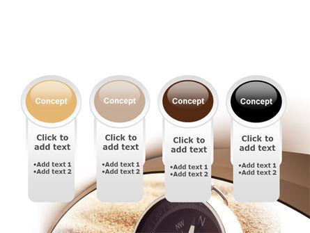 Compass in Sand PowerPoint Template Slide 5