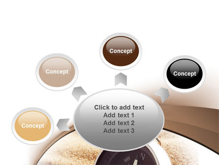 Compass in Sand PowerPoint Template Slide 7