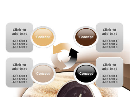 Compass in Sand PowerPoint Template Slide 9