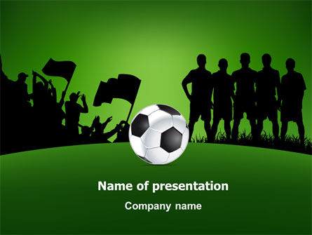 Sports: Football Game PowerPoint Template #07943
