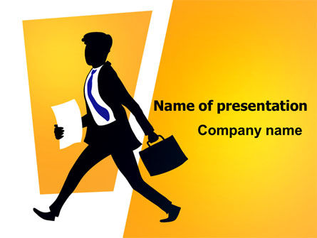 Business: Business Rush PowerPoint Template #07944