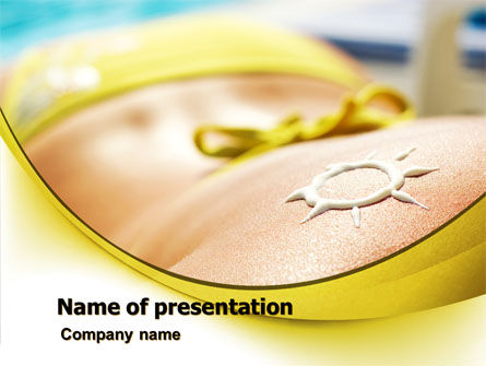 Sunbathe PowerPoint Template, 07945, Careers/Industry — PoweredTemplate.com