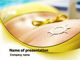Careers/Industry: 晒太阳PowerPoint模板 #07945