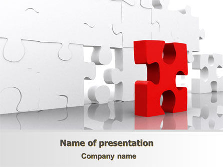 Fitting Puzzle PowerPoint Template