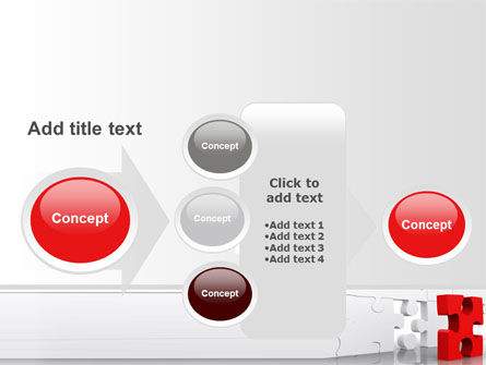 Fitting Puzzle PowerPoint Template Slide 17