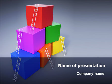 Pyramid of Cubes PowerPoint Template, 07947, Consulting — PoweredTemplate.com