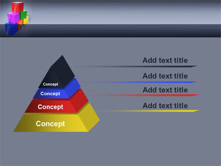 Pyramid of Cubes PowerPoint Template Slide 12