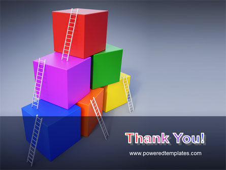 Pyramid of Cubes PowerPoint Template Slide 20