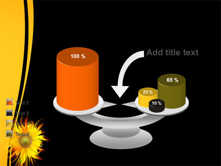 Flaming Sunflower PowerPoint Template Slide 10