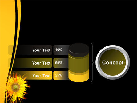 Flaming Sunflower PowerPoint Template Slide 11