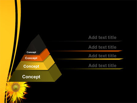 Flaming Sunflower PowerPoint Template Slide 12