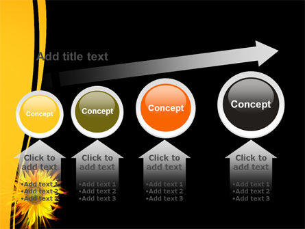 Flaming Sunflower PowerPoint Template Slide 13
