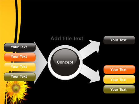 Flaming Sunflower PowerPoint Template Slide 14