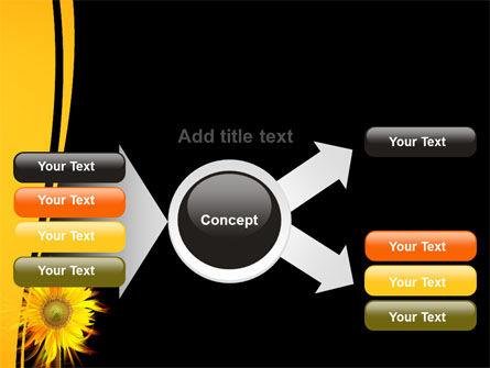 Flaming Sunflower PowerPoint Template Slide 14