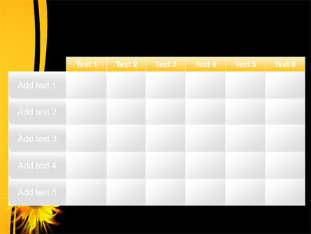 Flaming Sunflower PowerPoint Template Slide 15