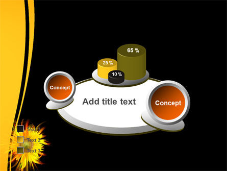 Flaming Sunflower PowerPoint Template Slide 16