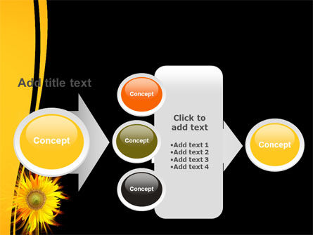 Flaming Sunflower PowerPoint Template Slide 17