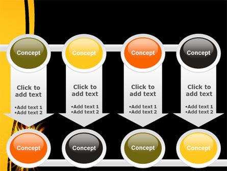 Flaming Sunflower PowerPoint Template Slide 18