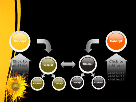 Flaming Sunflower PowerPoint Template Slide 19