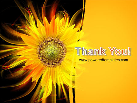 Flaming Sunflower PowerPoint Template Slide 20