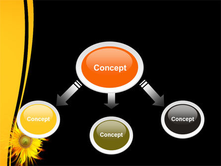 Flaming Sunflower PowerPoint Template, Slide 4, 07948, Art & Entertainment — PoweredTemplate.com