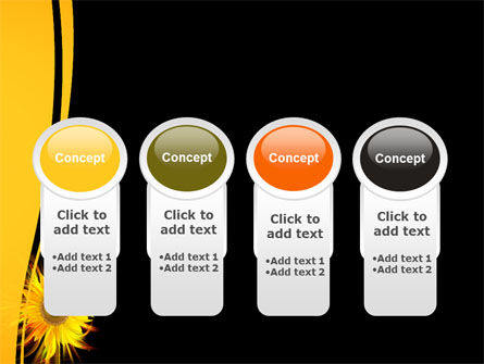 Flaming Sunflower PowerPoint Template Slide 5